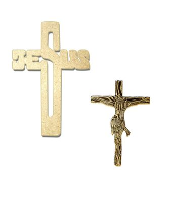 Set of Jesus Name Cross and Engraved Jesus on Wooden Cross Set of 2 for Christmas