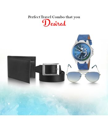 Carlos stylish DAY AND DATE WATCH combo pack of watch along with 1 leather wallet 1 leather belt 1 Day and date sporty watch1 Aviator sunglass 05