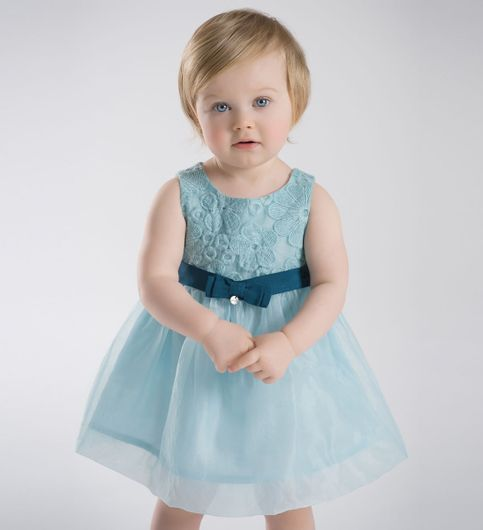 Buy Cyan Color Flare Party-wear Dress With At Lowest Price