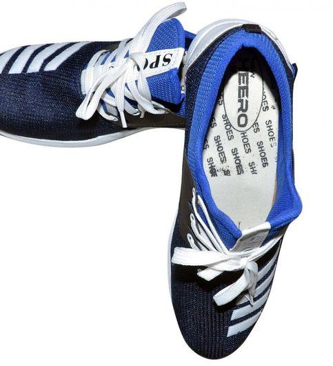 BLUE  BLACK  WHITE HERO Mens Sports Gym Training Running Shoes