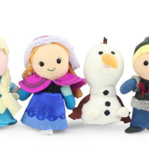 Disney Finger Puppet Doll Anna Elsa Kristoff  Olaf. Play Toy Velvet Cotton set of 4 pcs