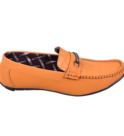Messi tan casual loafers