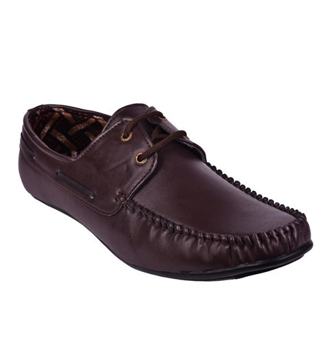 Messi Brown Boat Shoes
