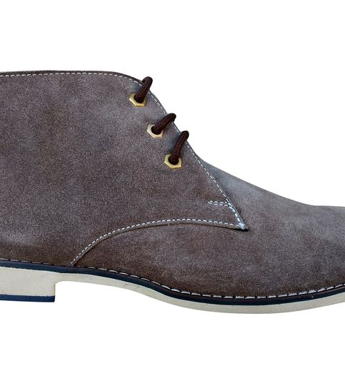 3 WOLVES Suede Leather Brown Chukka Boots