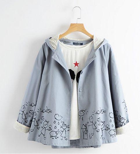 Grey Cotton Blend Coatwithout tshirt02