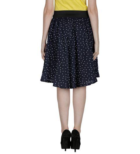 Shopingfever Polka Print Womens Regular Skirt