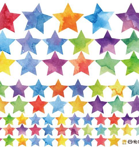 Jaamso Royals  Universe design Star Wall Sticker PVC Vinyl 45 cm X 50 cmDecorative  Stickers