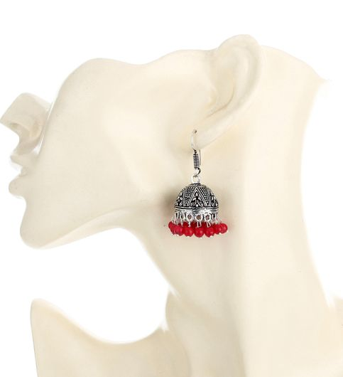 WATCH ME Banjara Boho pom Pom Trendy Fashionable Partywear Earrings Jhumki for Women Girls WMRPG-050