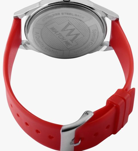 Watch Me Red Leather Analogue Watch for Women098