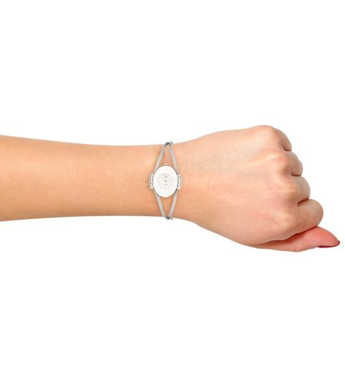 WATCH ME Silver Metal White Dial Watch For Women Watch MeAL-134