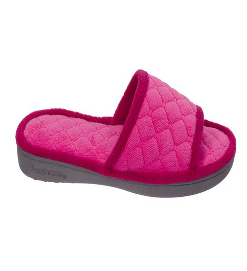 Dearfoams Quilted Terry Paradise Pink Slide