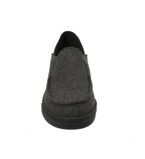 Dearfoams Woven closed Back with Collapsible Heel Dark Grey
