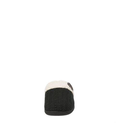 Feelinwow Cable Knit Scuff Slipper Black