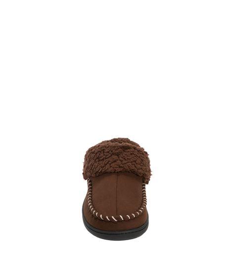 Feelinwow Microsuede Clog Slipper with Deep Cuff Brown