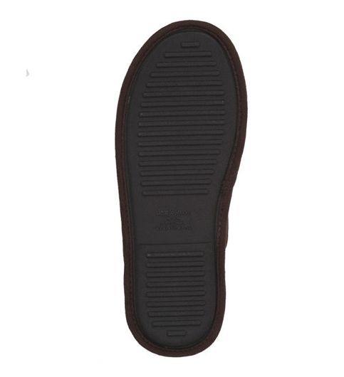 Feelinwow Mixed Material Scuff Slipper Brown