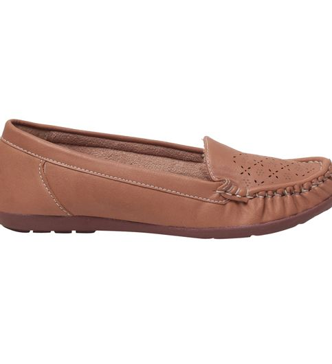 MSC Women Brown Synthetic Loafer