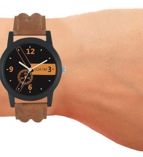 Latest mens lorem designed leather belt watch lorem 1