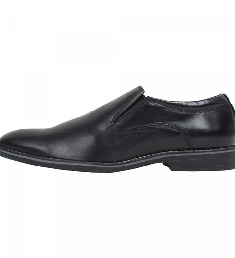 slip on pure leather with tor sole