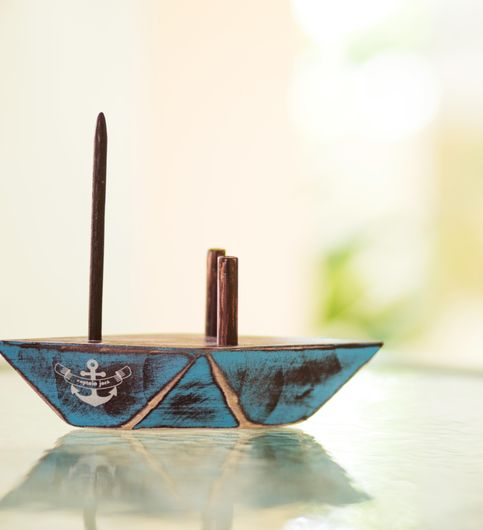 Poppadumart Paperboat Napkin  Toothpick Holder