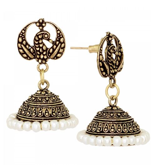Egal Theme Head With Gold Plated Jhumka Earrings For Women
