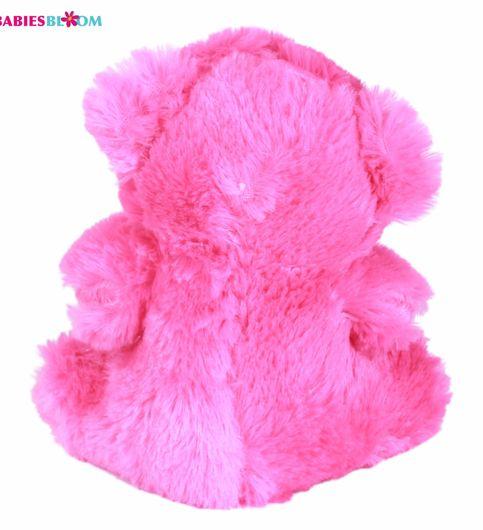 Babies Bloom Plush Stuffed Pink Teddy Bear With A Beautiful Bow