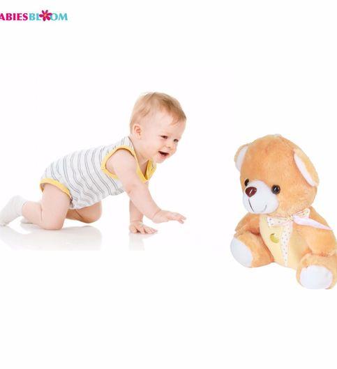Babies Bloom Sitting Bear lover Stuffed Toy For Little King