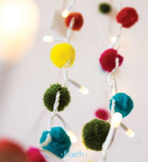 Pompom Rainbow decorative LED string light