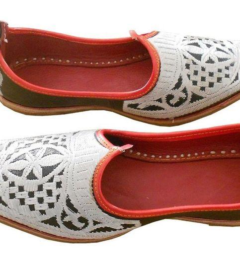 SHAHI Silver Leather Juti