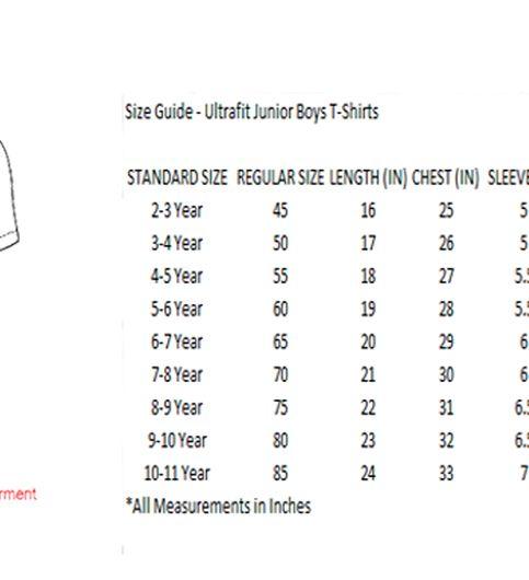 Ultrafit Junior Boys Cotton Black T-Shirt