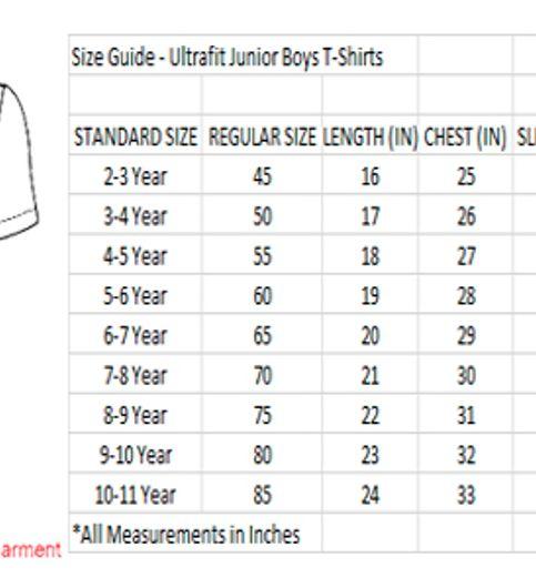 Ultrafit Junior Boys Cotton Grey T-Shirt209