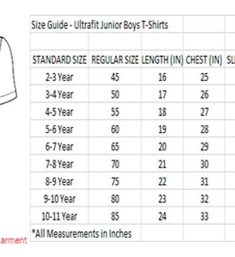 Ultrafit Junior Boys Cotton Multicolored T-Shirt- Pack of 2190