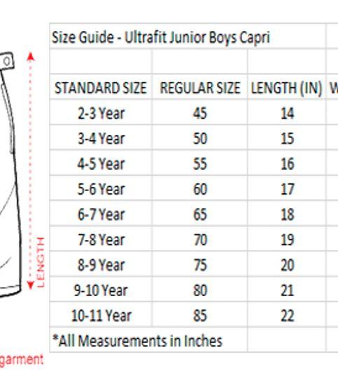 Ultrafit Junior Boys Green Cotton Capri243