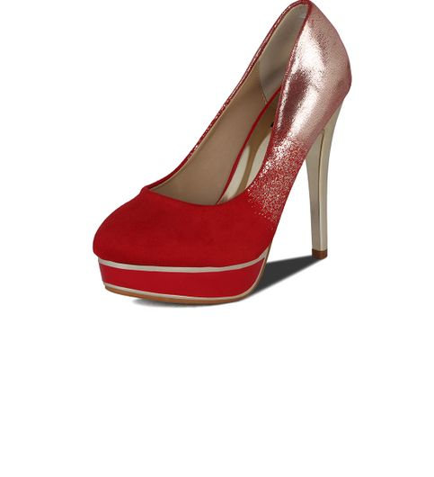 Kielz-Red-Casual Stiletto629-R-Red
