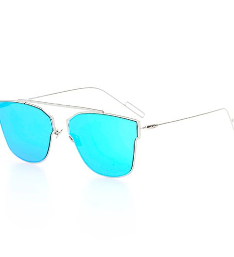 Silver And Blue Stylish Sunglasses