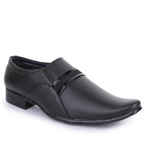 Shoez Hub Men Black Slip On Formal Shoes