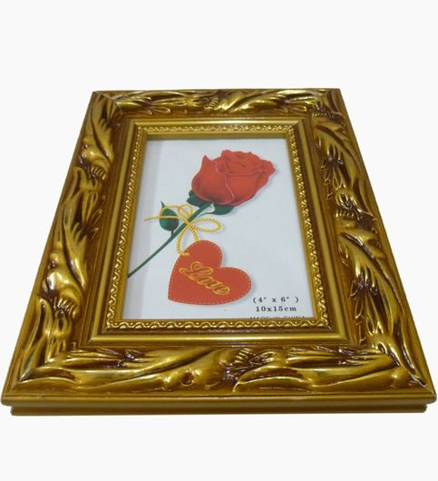 Craftofy Table Photo Frame With Golden Finish On The Periphery