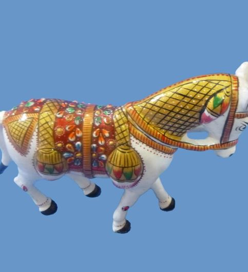 Craftofy White Colored Solid Horse