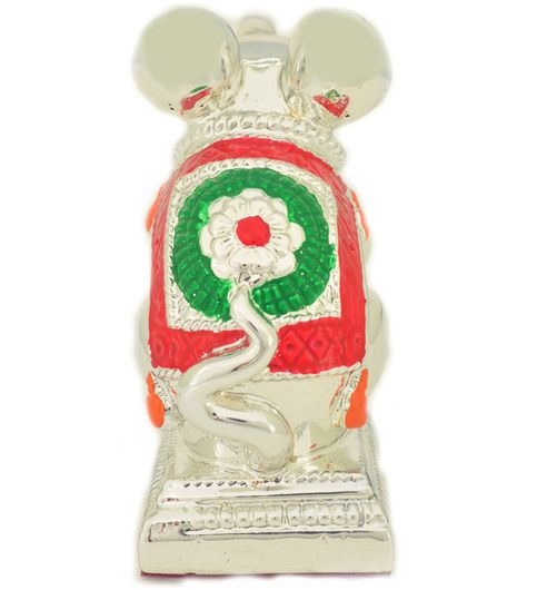 Mouse 60 Red and green with Silver Plated mouse