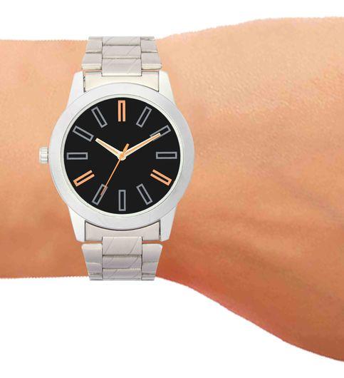 The Shopoholic Analog Black Dial White Steel Belt Watches For Boys-Men Watch Stylish1