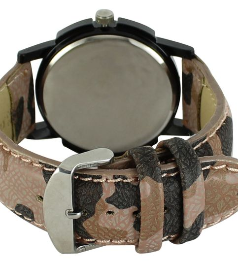 The Shopoholic Analog Newest Arrival Black Dial Fauzi Color Leather Belt Watches For Boys-Men Watch