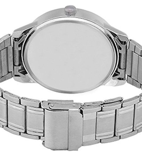 The Shopoholic New Ariival Analog White Dial Black Steel Belt Watches For Boys-Watches For Men Stylish