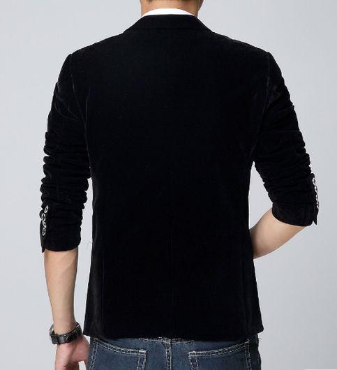 korean Attitude Black Velvet Blazer