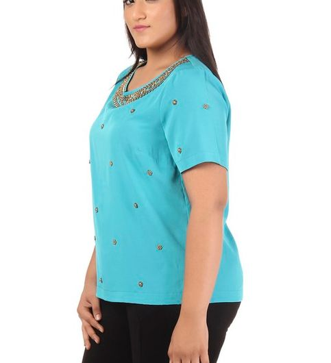 Plus Size Embellished Top