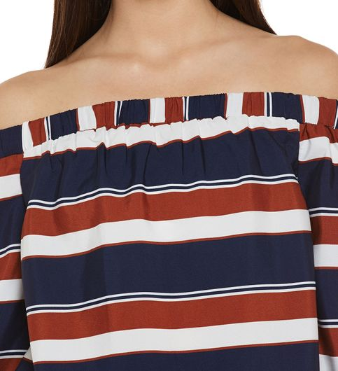 Striped Off-Shoulder Top