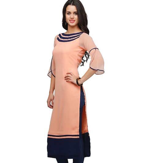 Shree woe pitch colour pure Georgette long kurti