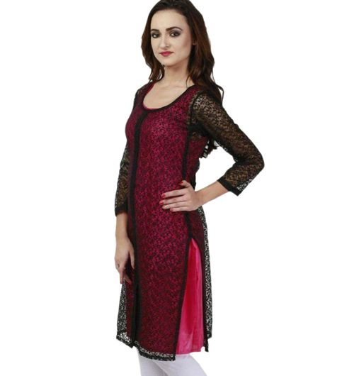 shree wow net kurti