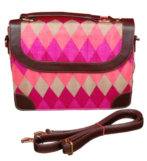 Azzra Ethnic Silk Handbag for WomenGirls