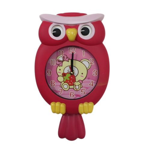 GeekGoodies Owl Bird Pendulum Wall Clock