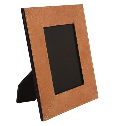 The Decor Mart- Pack of 1 Leather - Copper Photo Frame 278