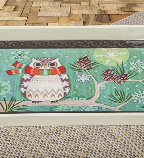 Estycal Wooden Serving Tray - Owl Print